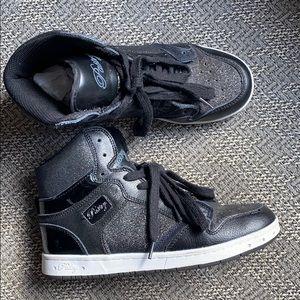 Pastry Black Sparkle Rhinestone Hi-Top Sneaker 6.5